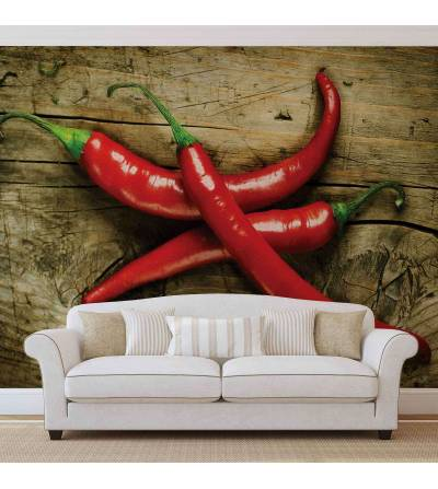 Hot Chillies Food Wood - Hot Chillies Food Wood fotó poszter tapéta (2015WM) - 1