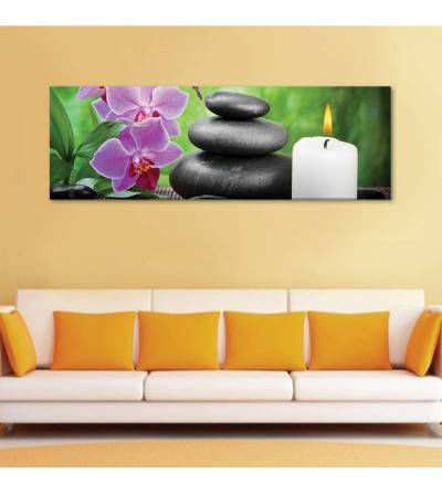 Relaxing spa orchids lights - orchidea feng shui - vászonkép - 1
